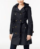 London Fog Petite Hooded Trench Coat
