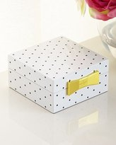 Kate Spade Polka Dot Square Jewelry Box