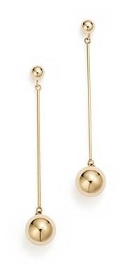 Bloomingdale's 14K Yellow Gold Ball Stud Drop Earrings - 100% Exclusive