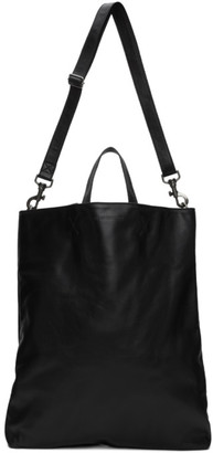 Ann Demeulemeester Black Leather Bozen Tote