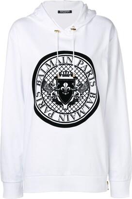 Balmain Logo Stamp Hoodie