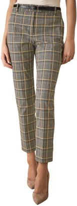 Reiss Joanne Check Yellow Check Trouser