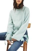 Topshop Petite Women's Tie Cuff Sweater