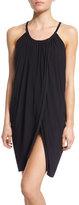 Magicsuit Draped-Front Sleeveless Coverup Dress