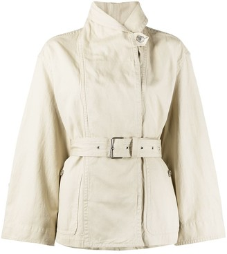 Etoile Isabel Marant High-Neck Belted Jacket