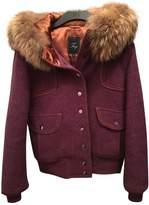 Fay Purple Wool Leather Jacket for Women