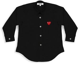 Comme des Garcons Little Kid's Play Kids Logo Button-Down Shirt
