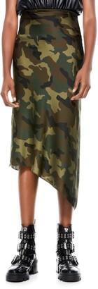Alice + Olivia Maeve Asymmetrical Slip Skirt