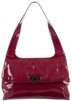 Salvatore Ferragamo Large Patent Leather Shoulder Bag