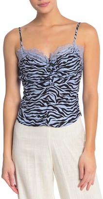re:named apparel Neha Leopard Lace Camisole