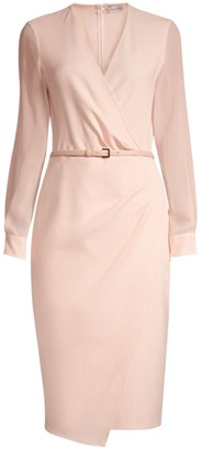 Max Mara Manuel Sheer Belted Sheath Dress
