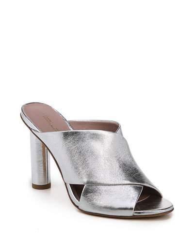 Diane von Furstenberg Emilyn Crisscross Metallic Mule Sandal