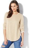 New York & Co. 3/4-Sleeve Twofer Top