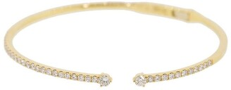 graziela 18kt yellow gold diamond Solo Cage bangle bracelet