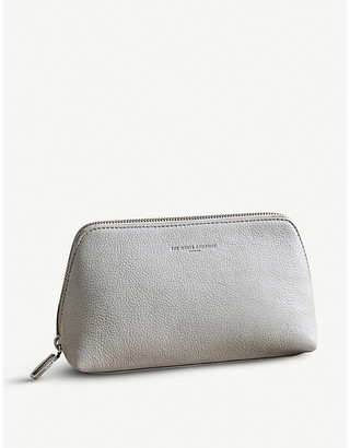 The White Company Pebblegrain leather make-up bag