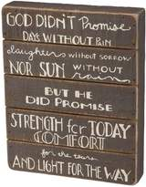 "Belle maison ""Light For The Way"" Wood Box Sign Art"