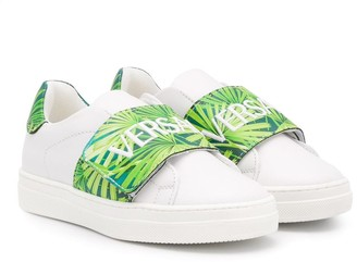 Versace Round Toe Logo Strap Sneakers