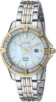 Seiko Solar 3-Hand with Date Two-tone Women's watch #SUT072