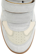 Isabel Marant The Bayley suede and leather high-top sneakers