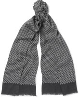Ermenegildo Zegna - Printed Wool, Silk And Cashmere-blend Scarf