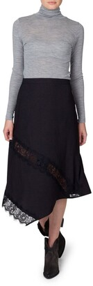 Skin and Threads Lace Panel Skirt
