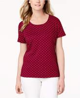 Karen Scott Dot Print T-Shirt, Created for Macy's