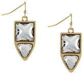 Jessica Simpson Dual Stone Drop Earrings