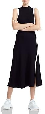 Maje Rose Contrast Trimmed Midi Dress