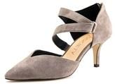 Sole Society Krissa Women Pointed Toe Suede Gray Heels.