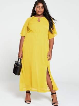Junarose Cape Sleeve Maxi Dress - Yellow