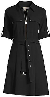 5de9b8bbe37 MICHAEL Michael Kors Women's Zip-Front Shirt Dress