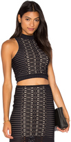 Nightcap Clothing Spiral Lace Crop Top