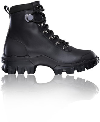 Moncler Helis Leather Lug-Sole Ankle Boots