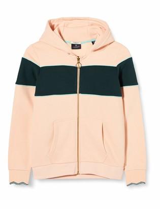 Scotch /& Soda Girls Sporty Zip Through Sweat with Tape Details Sweatshirt