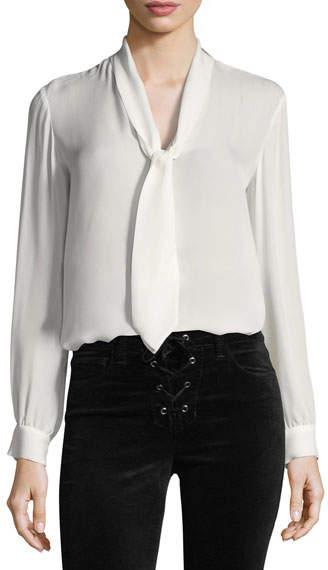 L'Agence Gisele Necktie Silk Blouse