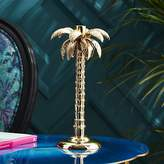 CB2 Palm Tree Gold Taper Candle Holder