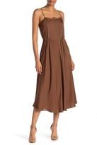 Vince Lace Trim Cami A-Line Satin Dress