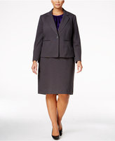 Le Suit Plus Size Three-Piece One-Button Skirt Suit
