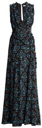 Altuzarra Medina Vine-print Silk Crepe De Chine Dress - Womens - Black Print