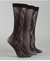 Calvin Klein Women's Lace Crochet Trouser Socks 3-Pack Panty Hose