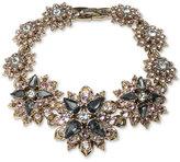 Marchesa Gold-Tone Crystal Cluster Link Bracelet