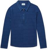 Oliver Spencer - Faro Indigo-dyed Cotton Half-zip Shirt
