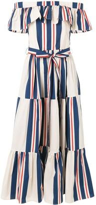 La DoubleJ off-shoulder tiered dress