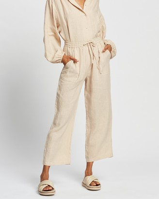 AERE - Women's Neutrals Pants - Relaxed Jogger Pants - Size 10 at The Iconic