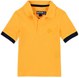 Vilebrequin Contrast-Cuff Cotton Piqué Polo Shirt