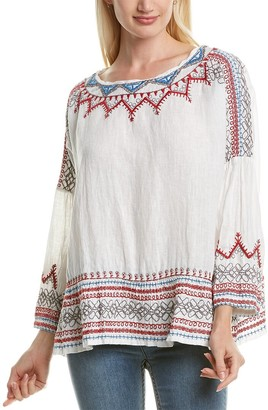 Johnny Was Albee Linen Blouse