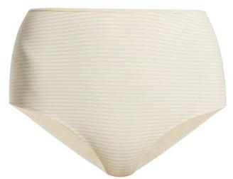 Marysia Swim Tarpum Bay Reversible High Waisted Bikini Briefs - Cream White