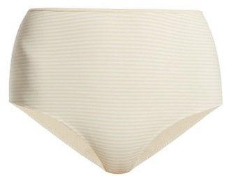 Marysia Swim Tarpum Bay Reversible High Waisted Bikini Briefs - Womens - Cream White