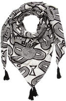 By Malene Birger Abstract Print Tassel Scarf w/ Tags