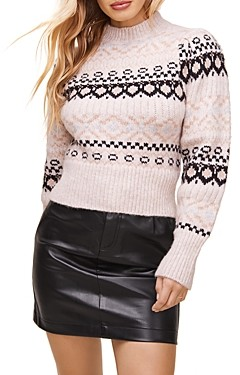ASTR the Label Maria Fair Isle Sweater